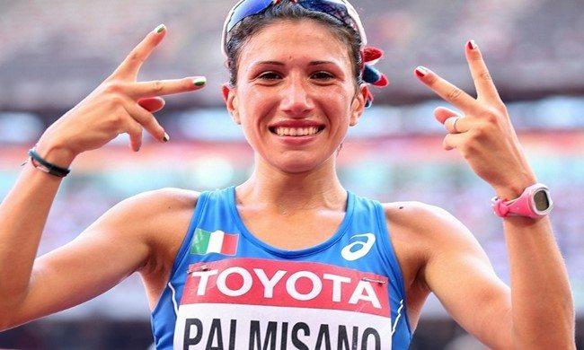 Antonella Palmisano a Trieste testimonial delle gare di marcia vinte da Valentina Trapletti e Francesco Fortunato