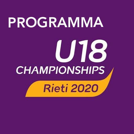 Europei U18 Rieti2020: ECCO IL PROGRAMMA DELLE GARE