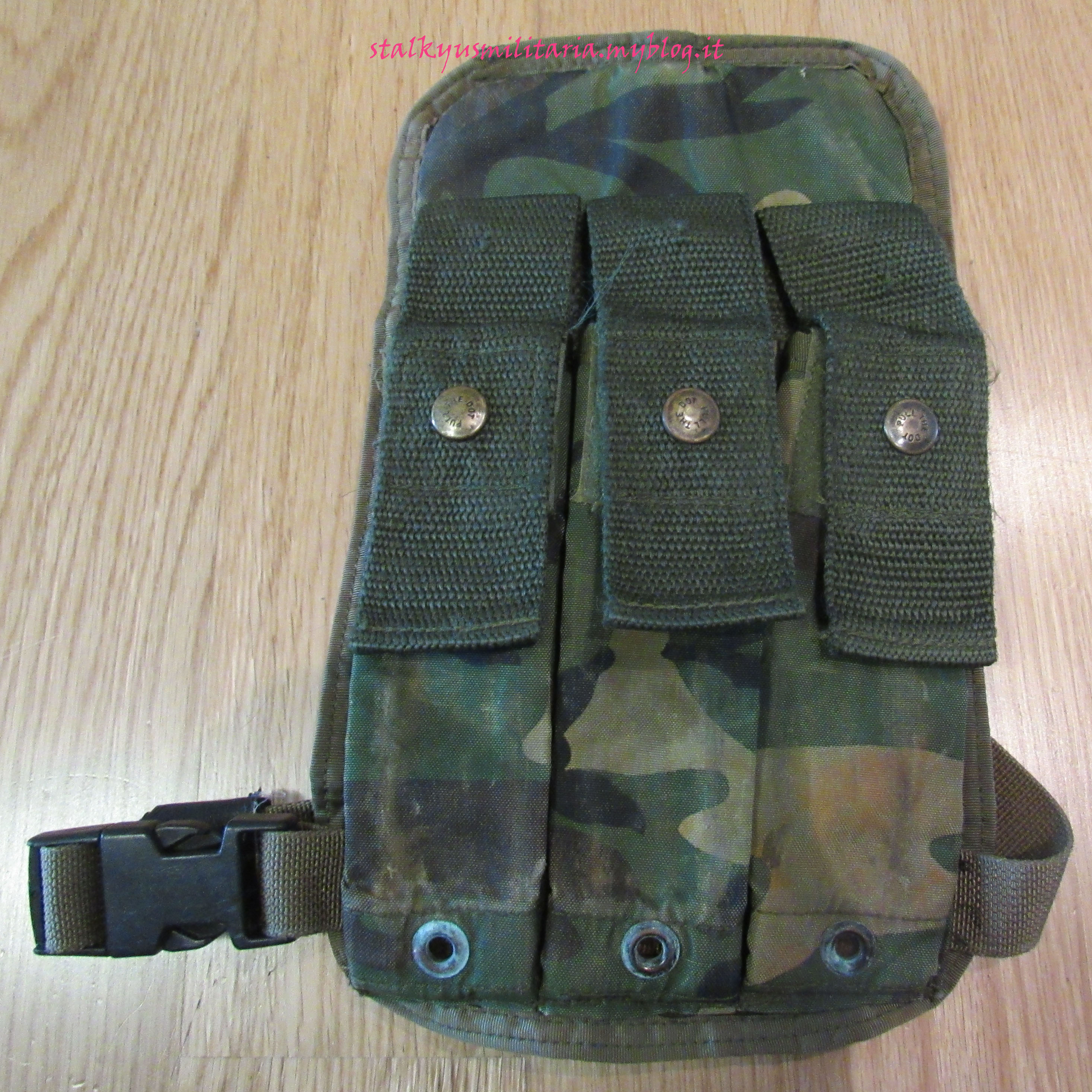ABA MP5 Drop Leg Ammo Pouch Woodland 1984