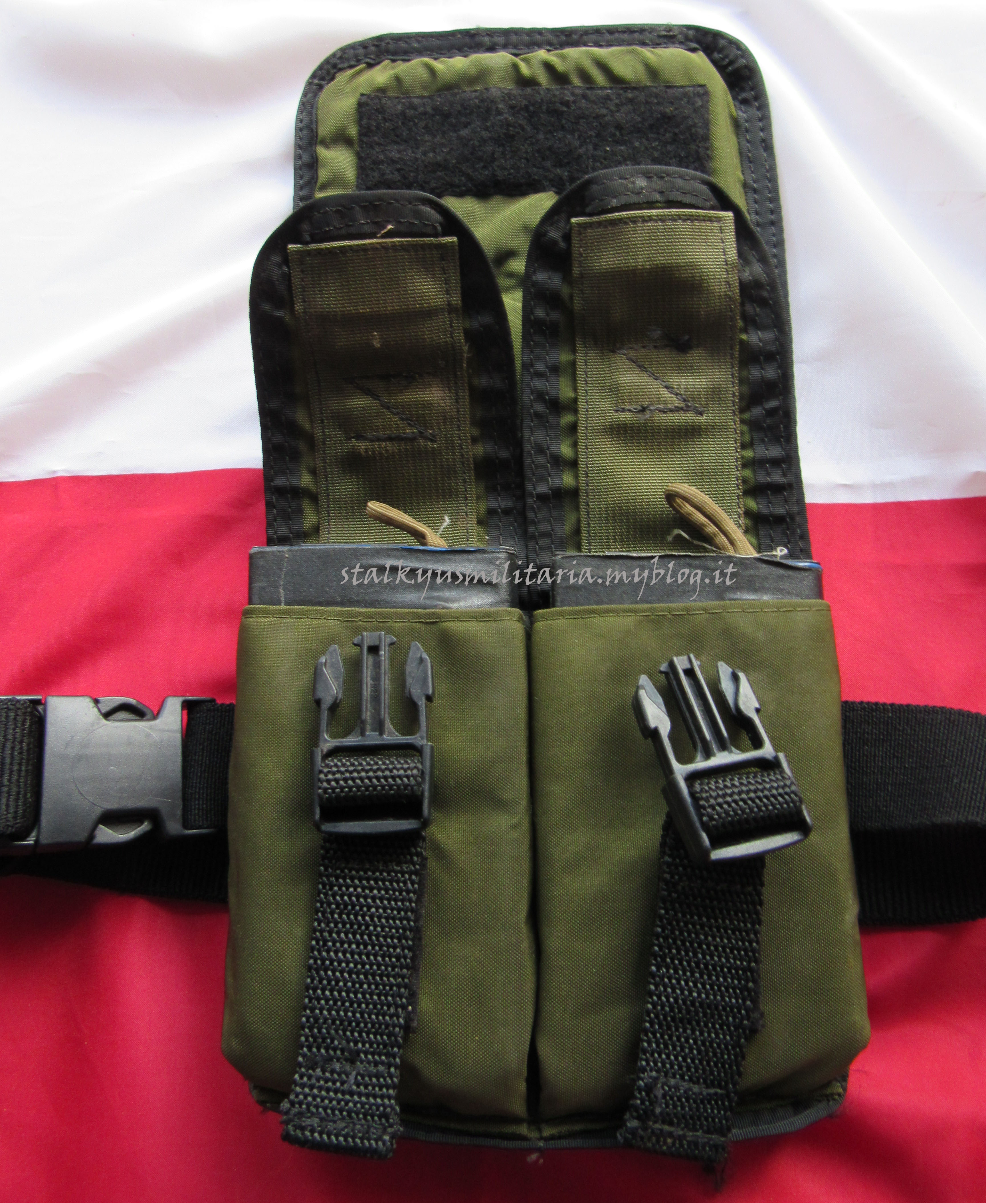 American Body Armor M14 Drop Leg Ammo Pouch OD Black Trim