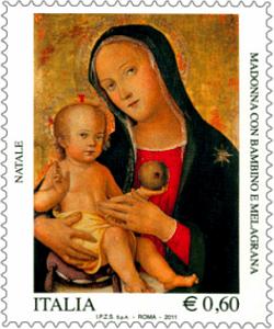 Madonna con Bambino e melagrana