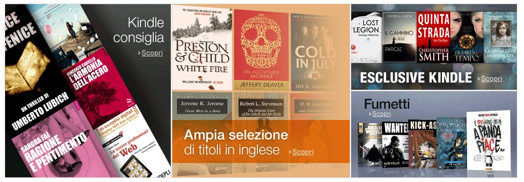 Amazon, partito il servizio Kindle Unlimited