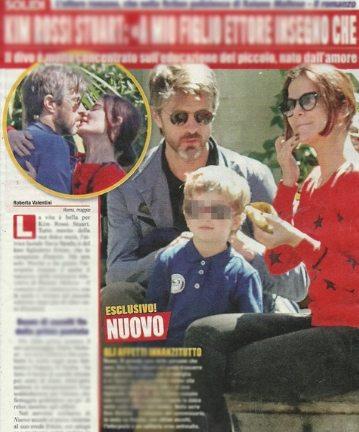 Kim Rossi Stuart e Ilaria Spada, coppia innamorata a spasso col figlio Ettore