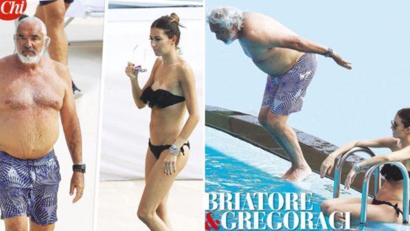 Elisabetta Gregoraci e Flavio Briatore, freddezza e distanza in piscina con Nathan Falco