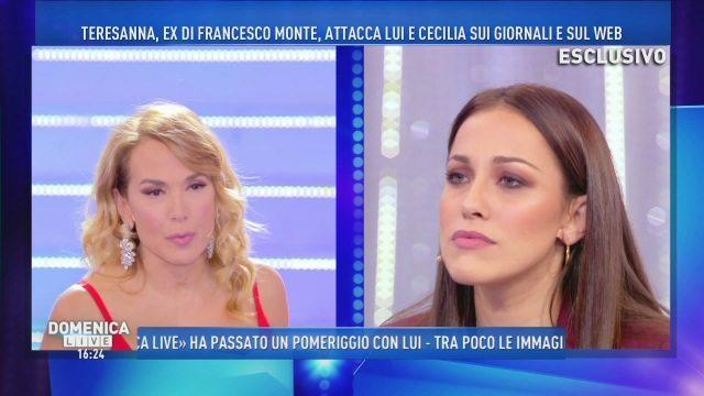 """""""Domenica Live"""", Teresanna: """"Cecilia non ha un'unghia della mia dignità"""""""