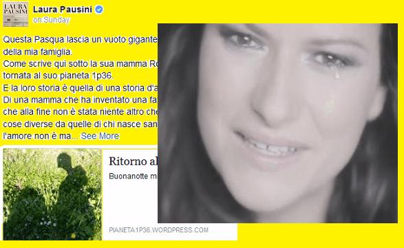 Laura Pausini, messaggio per la piccola Francesca: morta a 3 anni