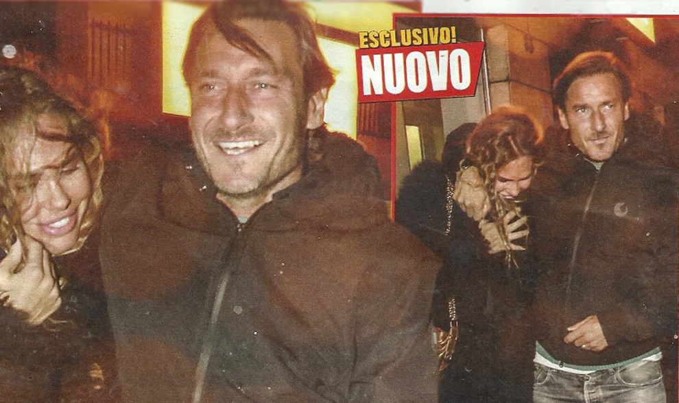 Francesco Totti e Ilary Blasi, lui fa il