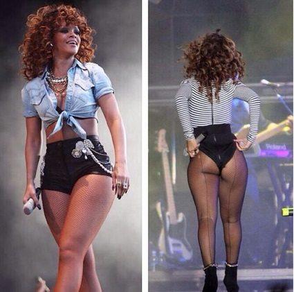 Rihanna è ingrassata su fianchi e cosce: non lo nasconde, e i fan la amano di più