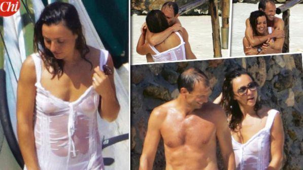 Ambra Angiolini e Massimiliano Allegri sono la coppia dell'estate: ecco le immagini del loro amore