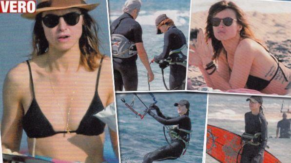 Kasia Smutniak, vacanza al sole con Domenico Procacci