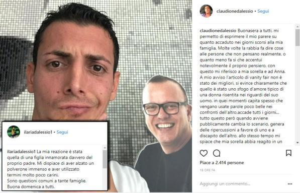I figli di Gigi D'Alessio si scusano con Anna Tatangelo: