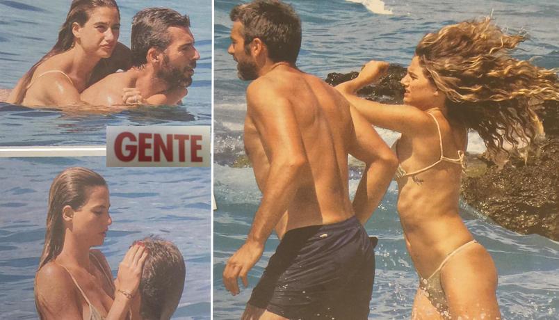 Luca Argentero e Cristina Marino si rinfrescano nelle acque cristalline di Gallipoli
