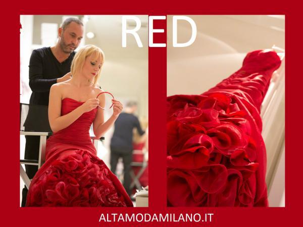 Abito rosso di valentino