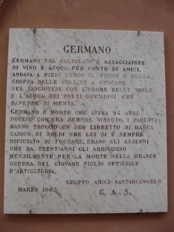 a Santarcangelo scritta sui muri... la storia di Germano