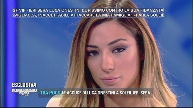 """Pomeriggio Cinque, Soleil: """"Per me con Luca è finita"""""""