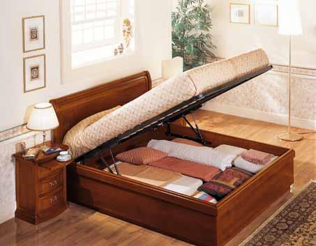 Prestige presenta : il letto in legno massello con contenitore ...