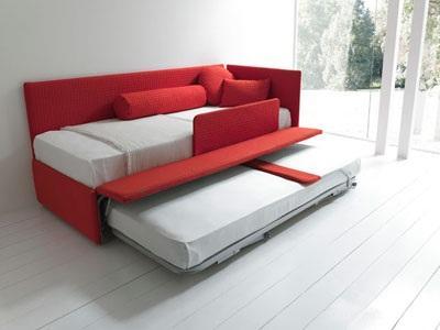 LINE by Bolzan... divano letto con secondo letto estraibile
