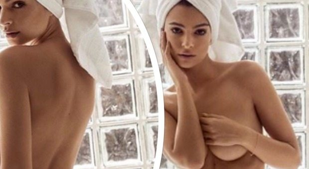 Emily Ratajkowski e la doccia hot: seno e lato B sono esplosivi