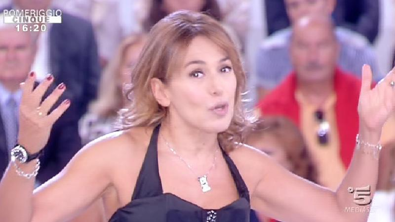 Barbara D'Urso a Pomeriggio 5.