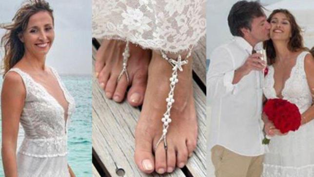 Benedetta Parodi, sposa scalza alle Maldive