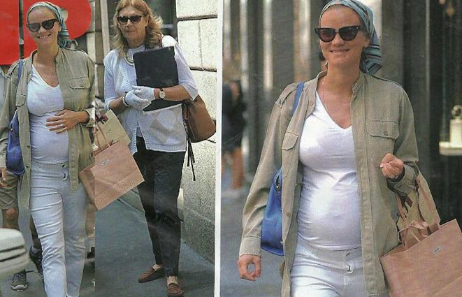 Fiammetta Cicogna shopping col pancione: è incinta di due gemelli