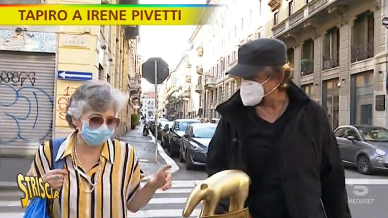 """Striscia la notizia, """"Tapiro d'oro� a Irene Pivetti che risponde alle accuse di Lele Mora: «Fantasia pura»"""