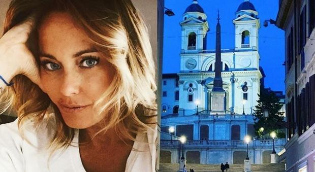 Sonia Bruganelli, la foto di Roma deserta su Instagram. Un dettaglio fa infuriare i fan: «Complimenti per la sensibilità...»