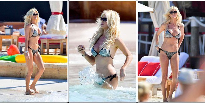 Victoria Silvstedt, vacanze in grande spolvero, il bikini è micro
