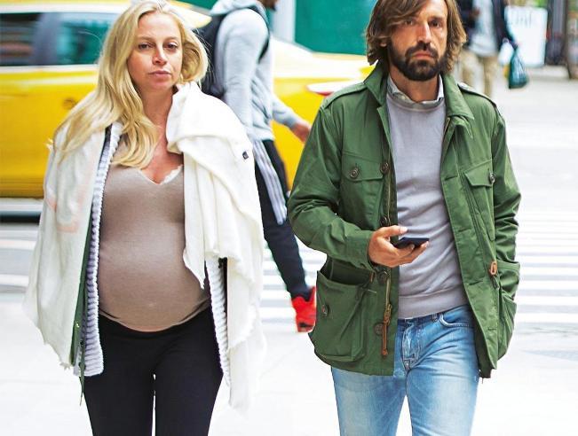 Andrea Pirlo presto di nuovo papà, Valentina al sesto mese