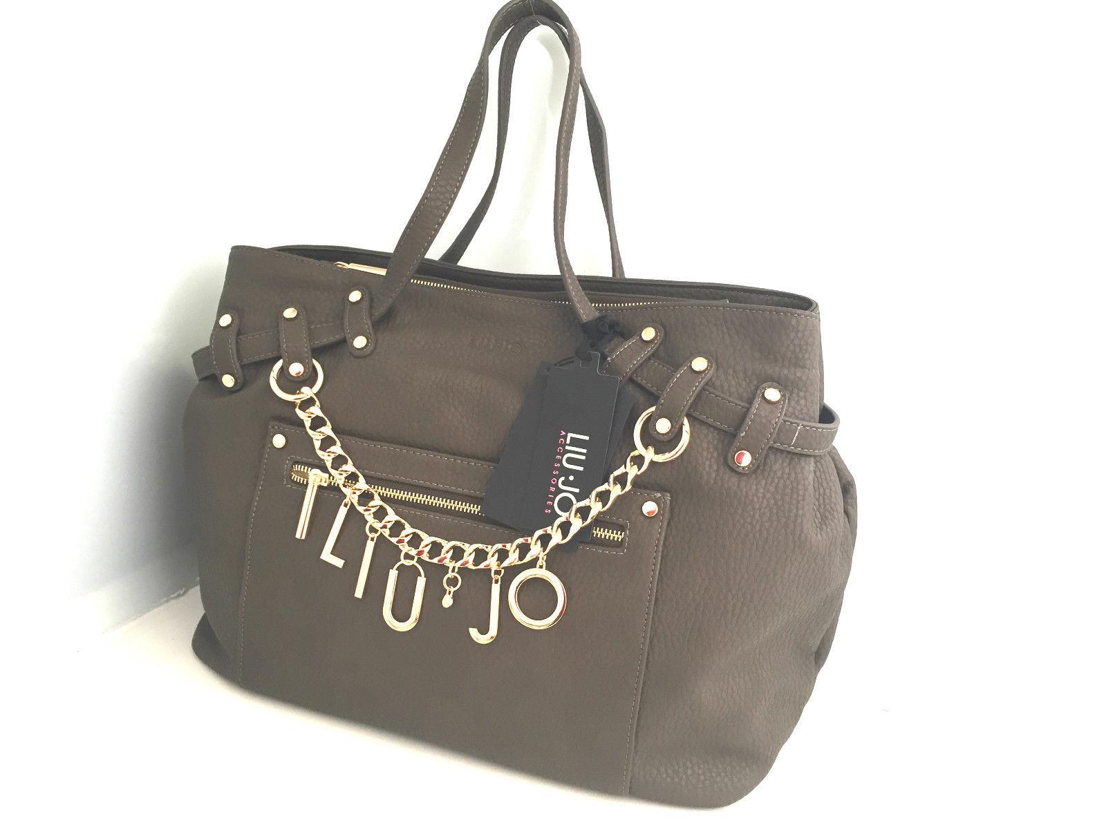 Borsa Liu Jo Shopping Andromeda Brown con charms a prezzo scontato!! ca40af05ad8