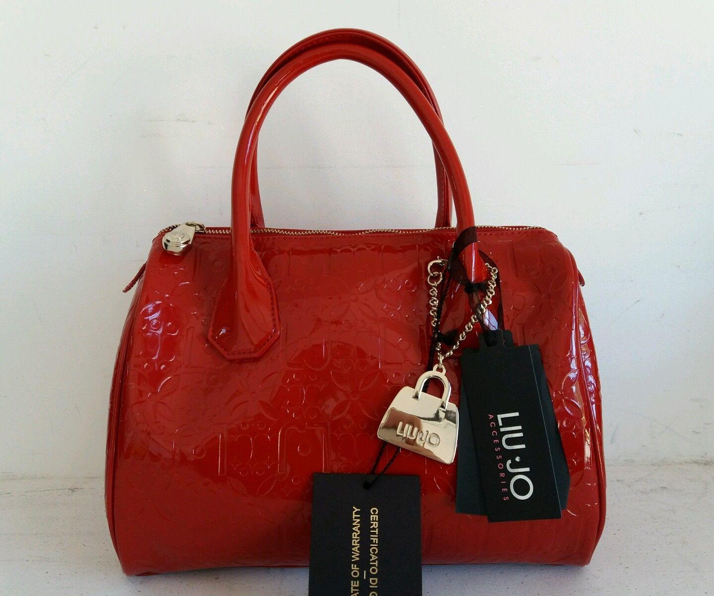 2da25fb19d6c5 Borsa bauletto Liu Jo lucida colore rosso a prezzo scontato!