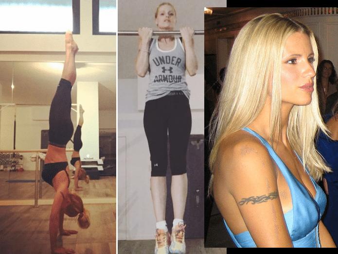 Michelle Hunziker, la verticale è hot: ma un particolare inquieta i fan