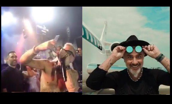 Gianluca Vacchi, dalla Rolls Royce all'aereo privato, poi dj set scatenato a torso