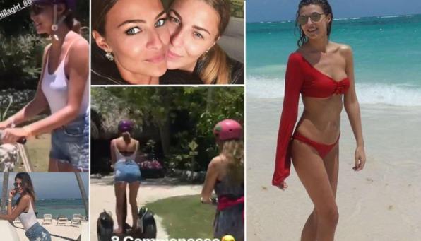 Cristina Chiabotto, vacanza ai Caraibi con la sorella Serena