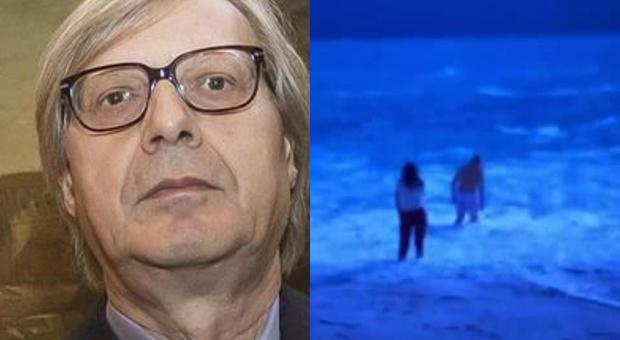 Vittorio Sgarbi salvato in mare in un resort dalla figlia. «Ha rischiato di annegare»