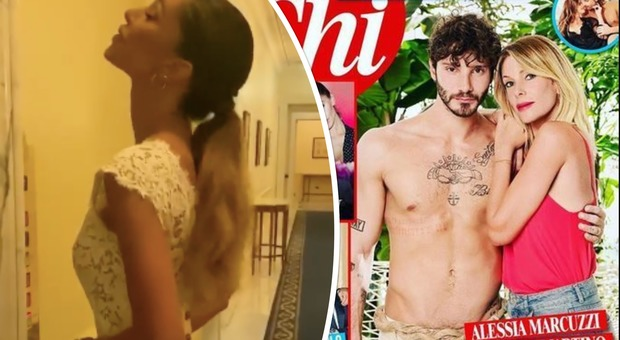 Belen Rodriguez festeggia in bianco a Capri mentre impazza il gossip su Stefano De Martino e Alessia Marcuzzi