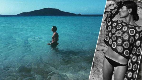 Stefano De Martino in un mare di pensieri con Gilda lontana