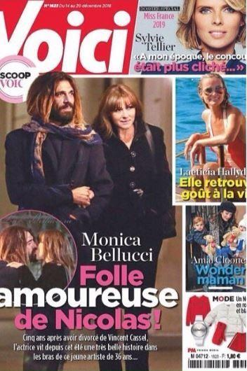 Monica Bellucci ha un nuovo amore, l'artista Nicolas Lefebvre