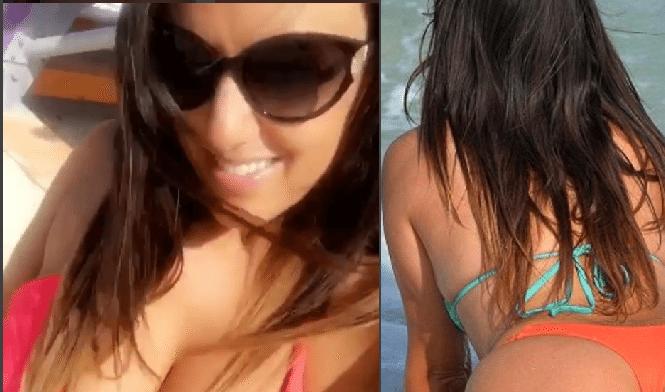 Claudia Romani  bella e generosa nella clip su Instagram
