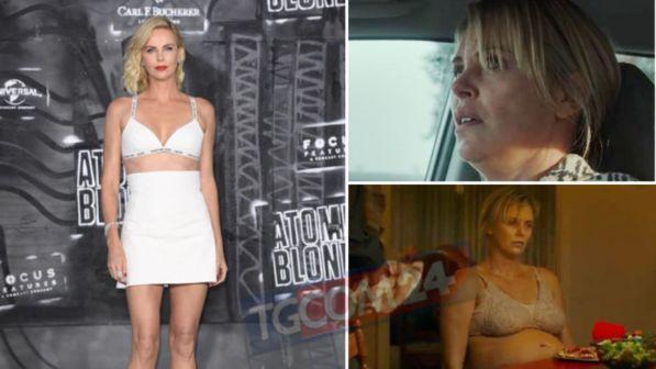 Charlize Theron, irriconoscibile: 22 chili in più per entrare nei panni di una madre esausta
