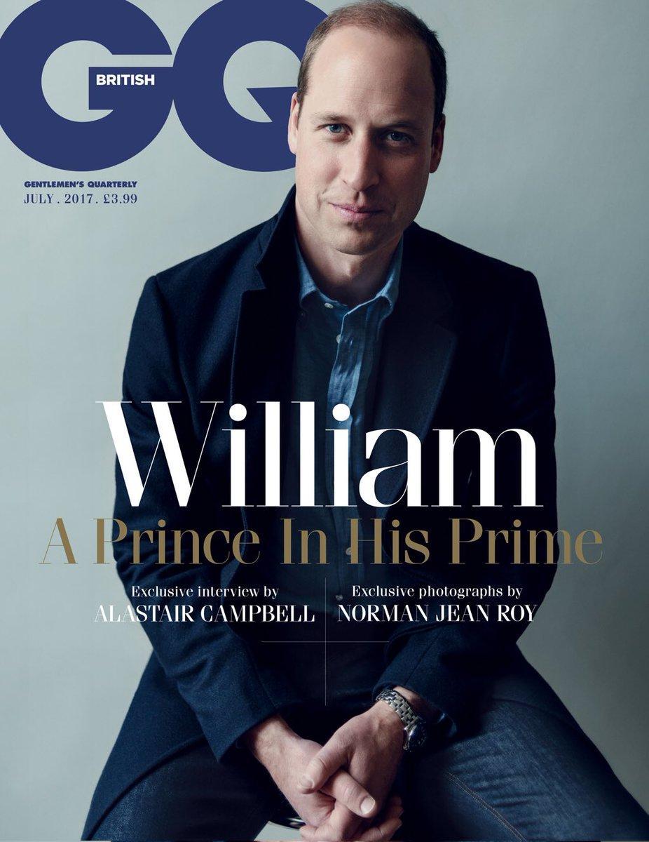 Il Principe William sulla copertina di GQ: