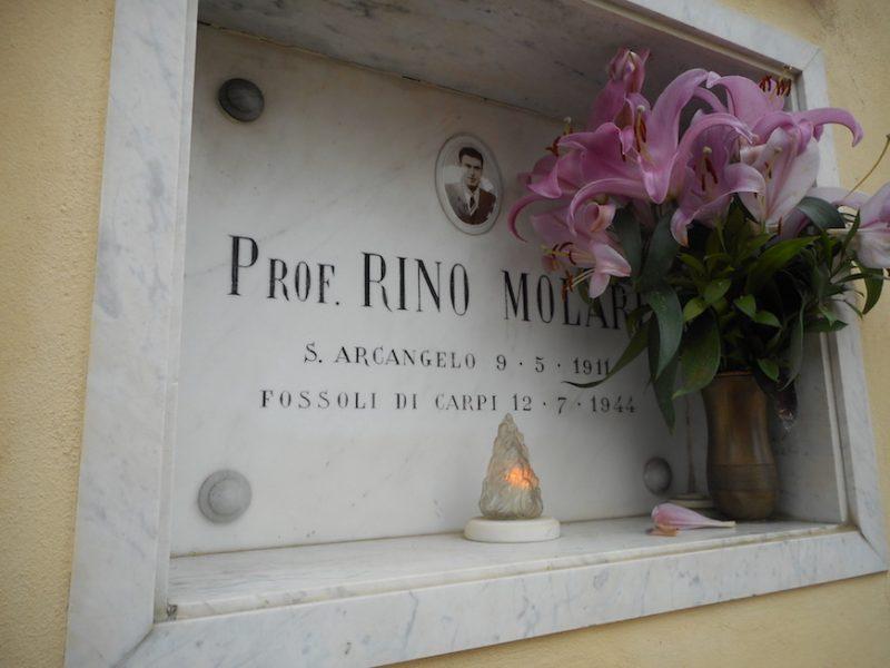L'epitaffio reticente di un eroe: Rino Molari
