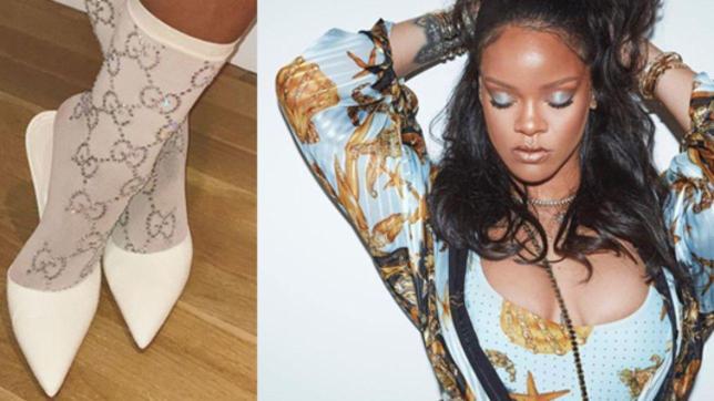 Rihanna con le calze da più di mille euro