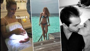 Hunziker, baci, bikini e... pancione in vacanza con Tomaso