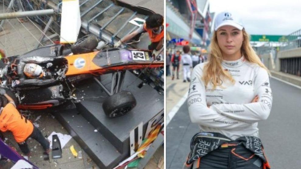 MacauGP incidente in Formula 3, Sophia Floersch prende il volo e si schianta: frattura spinale. Il tweet: «Sto bene»