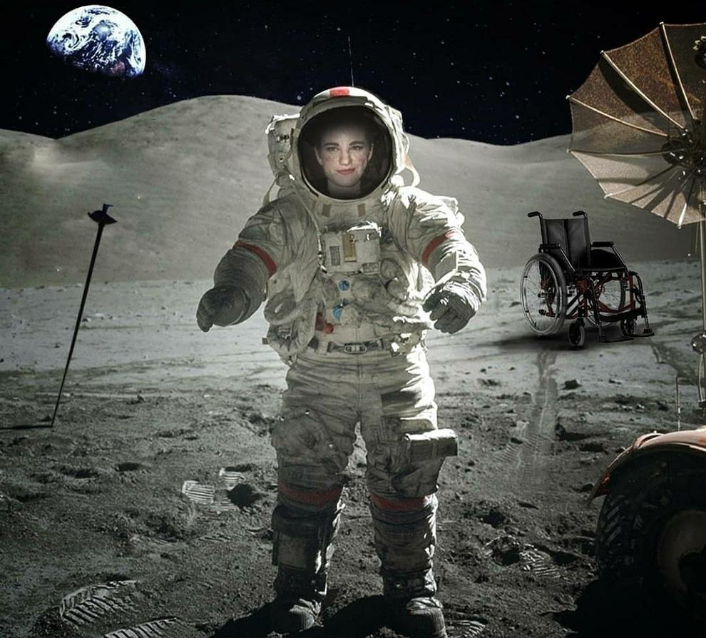 Bebe Vio senza limiti, sbarca sulla Luna. E la sua frase fa impazzire il web