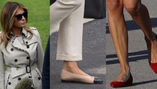 "Melania, le scarpe basse ""prendono piede"""