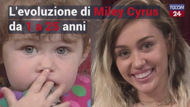 Miley Cyrus, la sua evoluzione da 1 a 25 anni