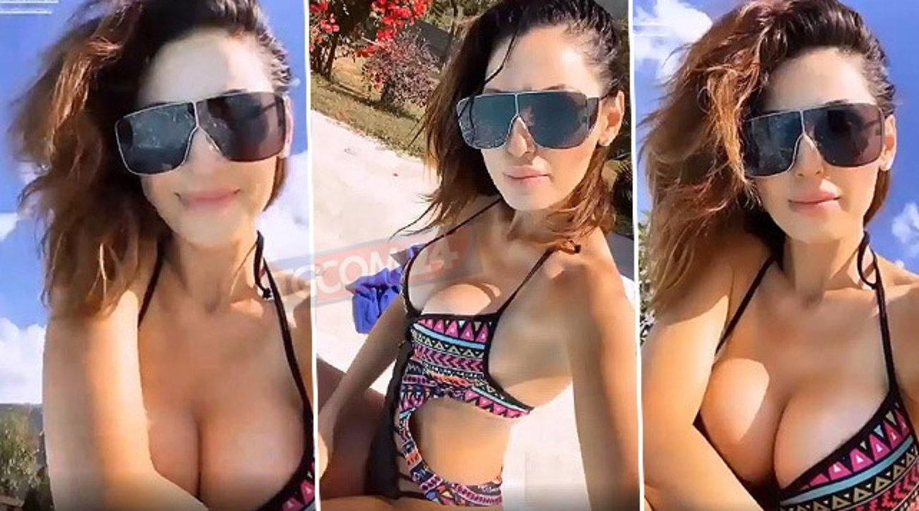 """Anna Tatangelo """"surriscalda� la piscina con un bikini esplosivo"""