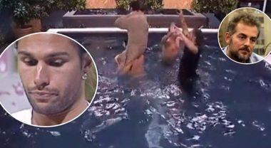 Daniele Bossari e Luca Onestini nudi in piscina: la decisione del Grande Fratello Vip